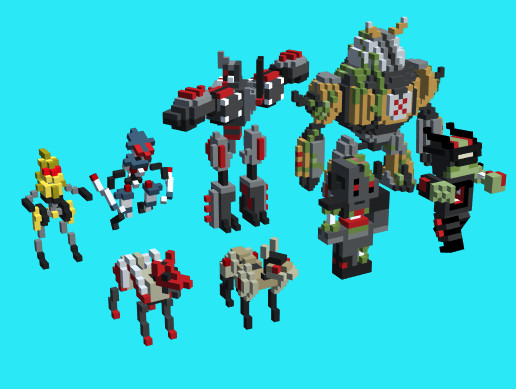Blocky Robots Animated Pack