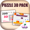 3D Puzzle Pack - 2048 - Minesweeper