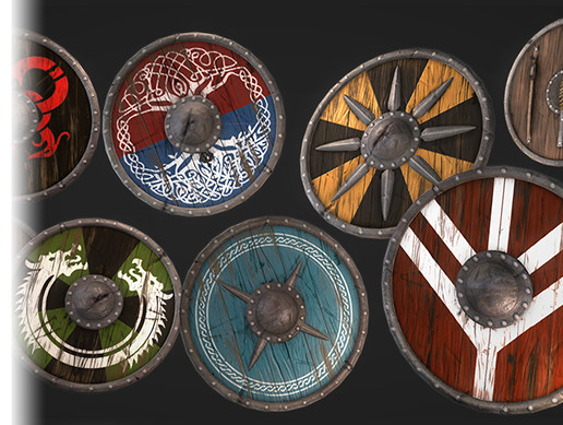Medieval Viking Shield Pack