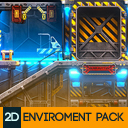 2D Sci-Fi Industrial Environment Pack