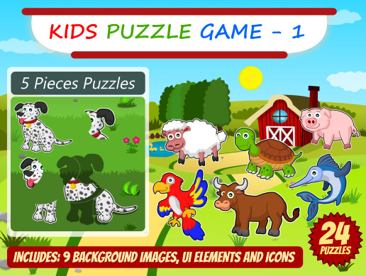 Kid Puzzle Game Asset Pack 1