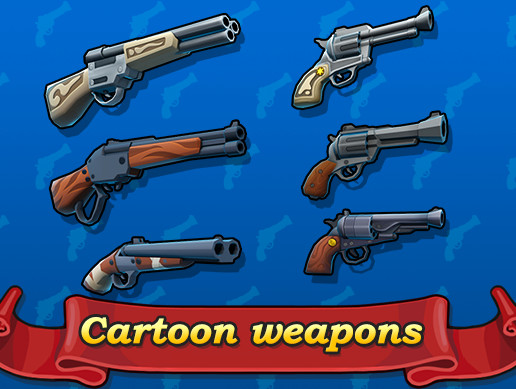 Cartoon cowboy weapons