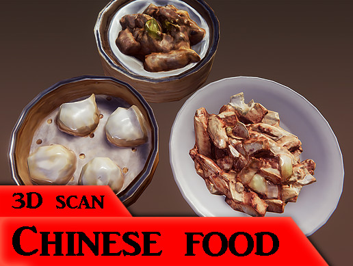 【Photogrammetry 】ChinesefoodX3