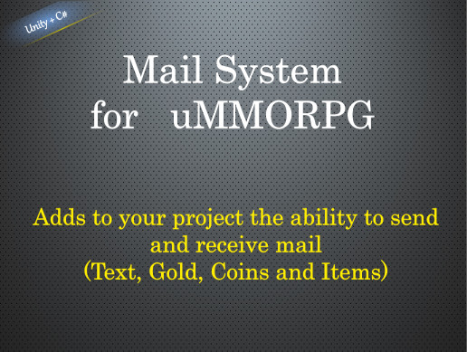 Mail system for uMMORPG