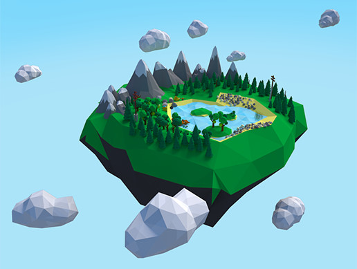Low Poly Camping Scene Assets