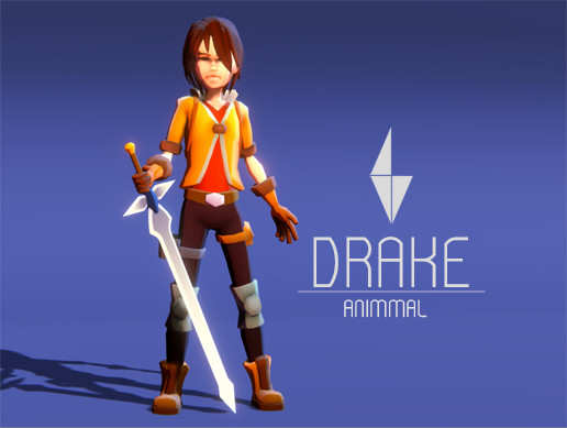 DRAKE - Stylized Action Adventure/RPG Character