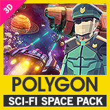 POLYGON Sci-Fi Space - Low Poly 3D Art by Synty