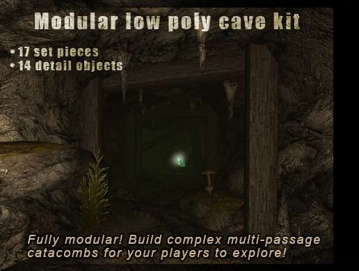 Low Poly HD Caves Kit