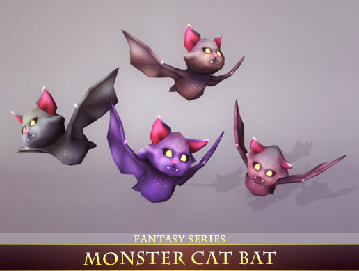 Monster Cat Bat - Asset Store