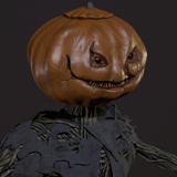 Creepy pumpkin monster