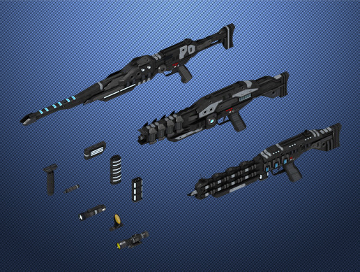 Scifi Weapon Series: Energy Rifles