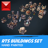 Human & Orc RTS Buildings - Hand Painted