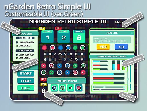 nGarden Retro Simple UI (Green)