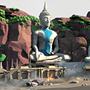 Low Poly Environment - Far East
