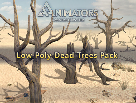 Low Poly Dead Trees pack
