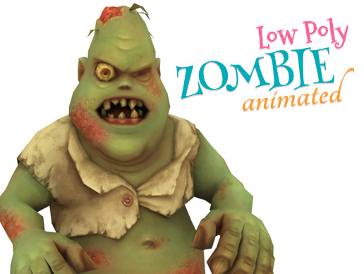 Low Poly monster Zombie