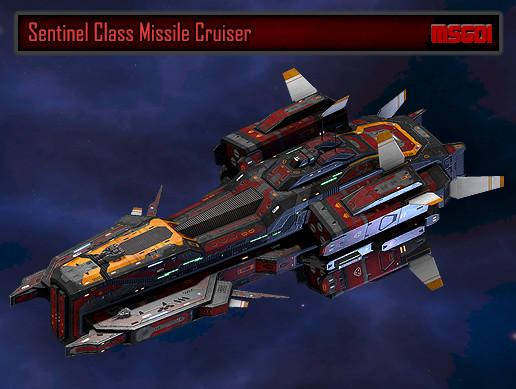 Scifi Missile Cruiser Sentinel