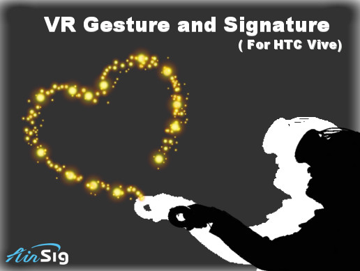 3D Motion Gesture and Signature Recognition (for HTC Vive)