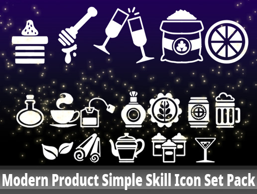 Modern Product Simple Skill Icon Set Pack