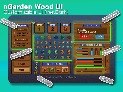 nGarden Wood UI (Dark)