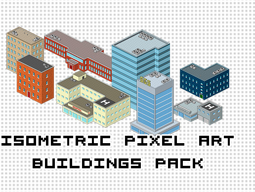 Isometric Pixel Art Buildings Pack