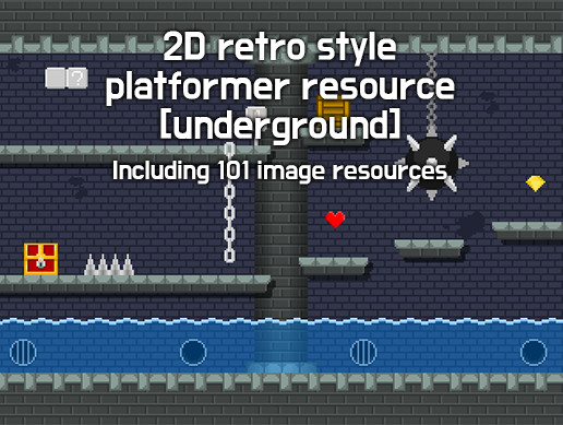 2D Retro Style Platformer Resource (Underground)