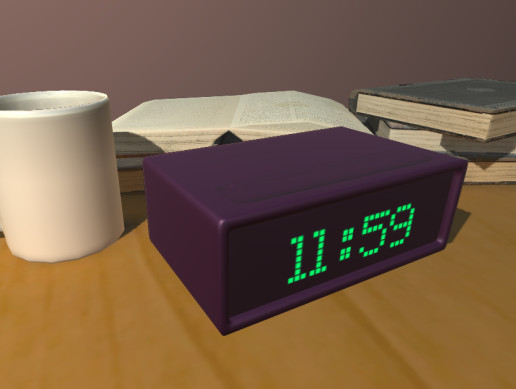 Modern Alarm Clock Low Poly Asset Store