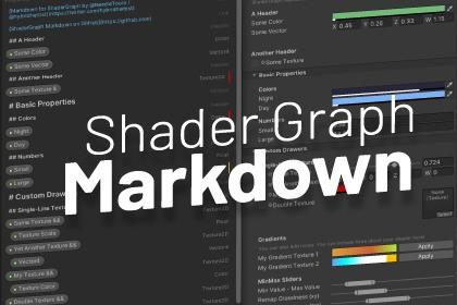 Shader Graph Markdown