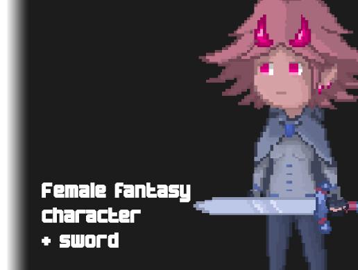 Female fantasy character & sword