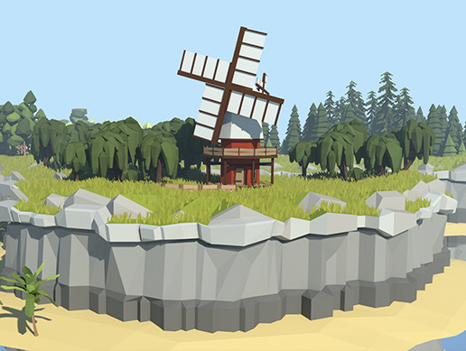Low Poly Cliff Pack