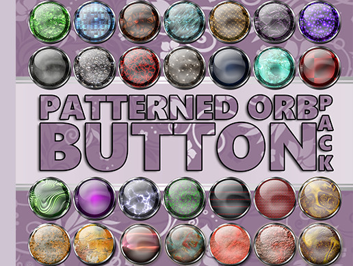 Patterned Orb Button Pack