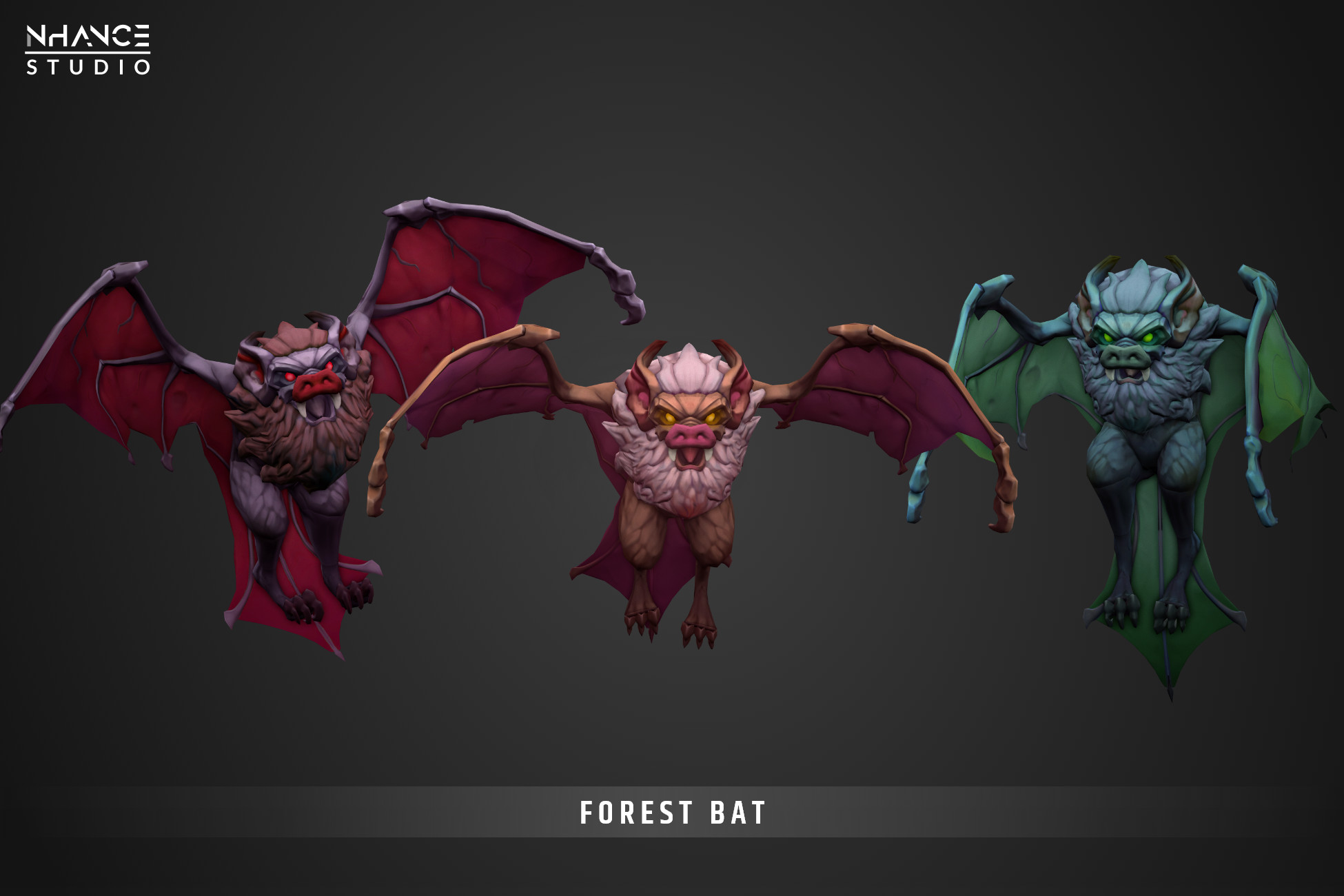 Stylized Fantasy Forest Bat