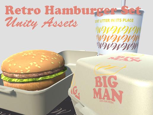 Retro Hamburger Meal Set