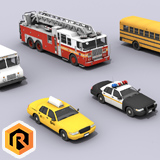 7 Emergency And Service Vehicles Collection