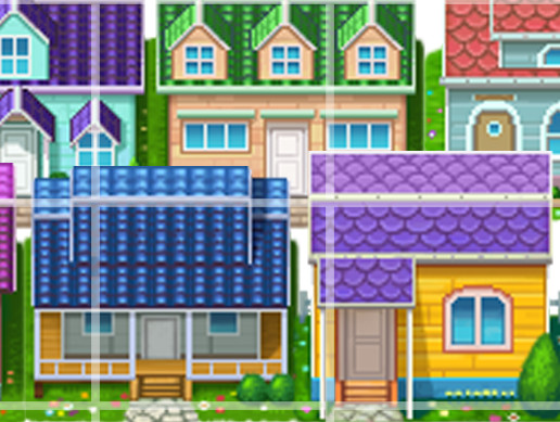 10 Orthographic Cartoon House Sprites