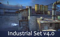 RPG/FPS Game Assets for PC/Mobile (Industrial Set v4.0)