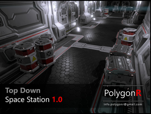 پکیج یونیتی Sci Fi Top Down Space Station PolygonR