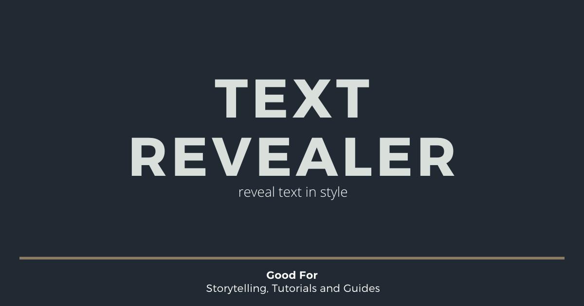 Text Revealer Pro