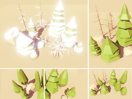 Low Poly Trees Pack - Conifer