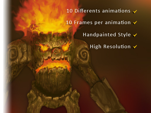 Burning Treant - Character Sprite