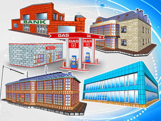 Toon Textured Buildings Pack