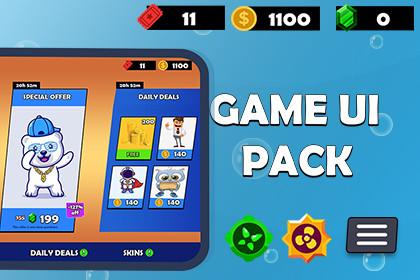 Cartoon Hyper Casual UI Pack -- Mobile Game Games