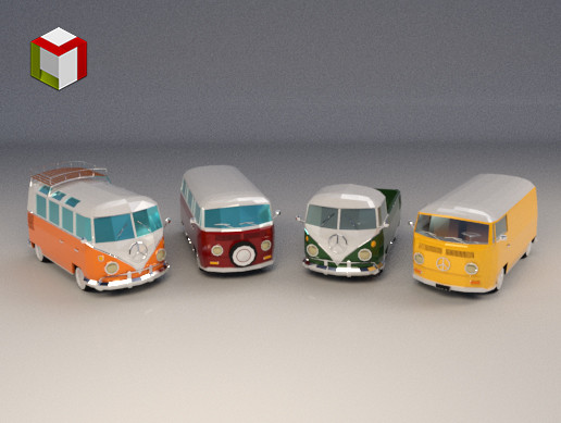Low Poly Camper Van Pack