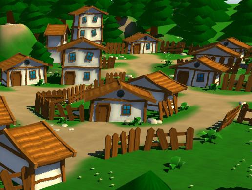 Fantasy cartoon houses region