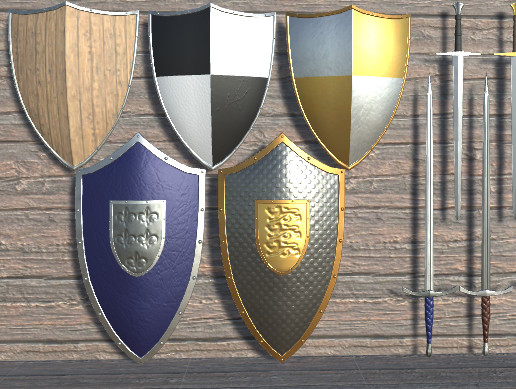 To Arms! Shield and Sword Asset Pack