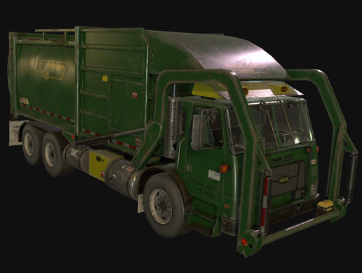 Garbage Truck AAA ( animated + PBR materials )