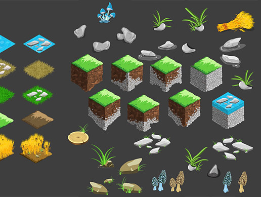2D Isometric Environment Pack 4-6 - Asset Store