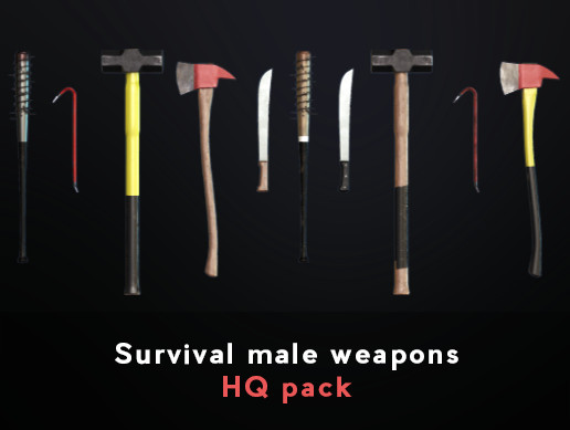 Survival male weapons HQ pack