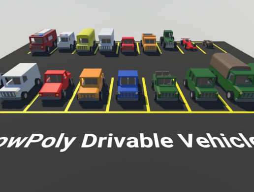 Low Poly Drivable Vehicles