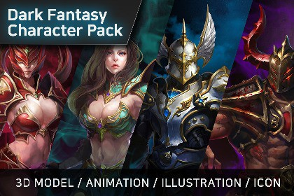 Dark Fantasy Character pack - All Characters